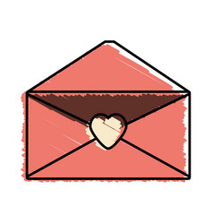 Message mail romantic envelope vector