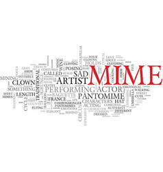 Mime word cloud concept vector