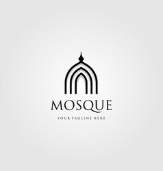 mosque logo simple luxury icon design vector image