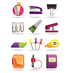 Office school and education bookstore tools vector