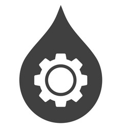 Oil industry gear icon vector