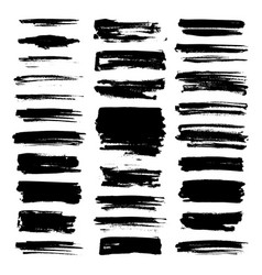 Paint brush strokes vector
