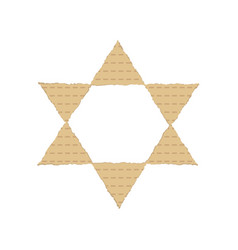 Passover holiday flat design icons of matzot in vector