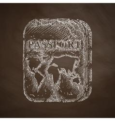 passport icon vector image