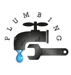 plumbing tools service vector image