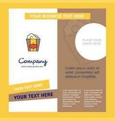 pop corn company brochure template busienss vector image