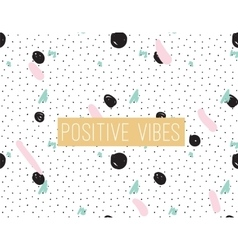 Positive vibes inscription on abstract background vector