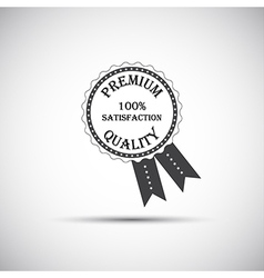 Premium quality labels with retro vintage design vector image