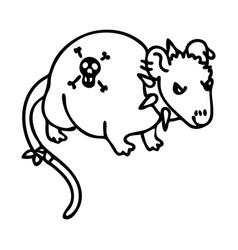 Punk rock rat with mohawk clipart vector
