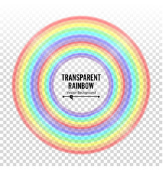 rainbow circle element color spectrum vector image
