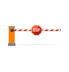 Realistic detailed 3d barrier gate vector