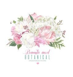 romantic flowers composition vector image