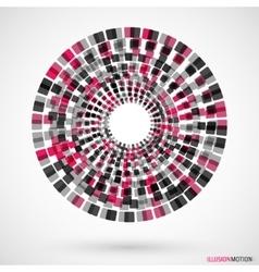 Rotating cubes logo vector