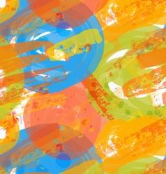 Rough brush blue and orange circles vector