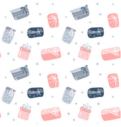 seamless pattern texture with hand drawn gift vector image
