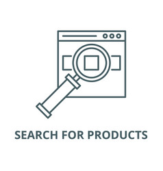search for products on site line icon vector image