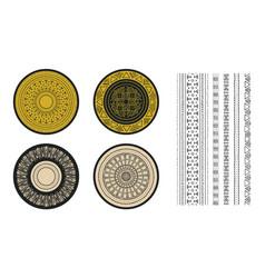 Set african decorative elements tribal print vector