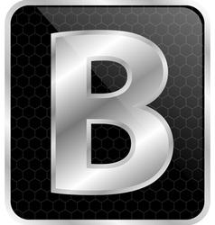Silver typographic b vector