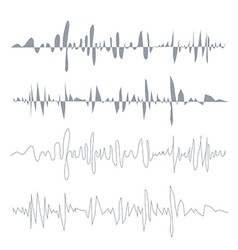 sound waves set Audio equalizer technology pulse vector image