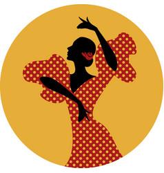 spanish flamenco dancer vector image