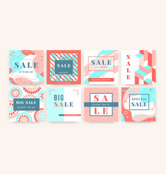 special offer banner square promo sale template vector image