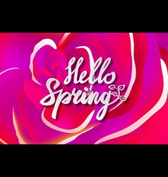 Spring is in the air Inspirational quote about vector