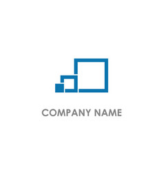 Square geometry shape line logo vector