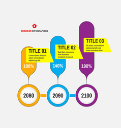 startup infographic template with 3 steps concept vector image