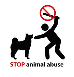 stop animal abuse vector image