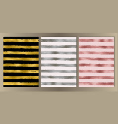 Stripe cover set vector
