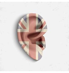 Surrealistic ear vector