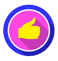 thumbs up bright color vector image