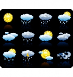weather background icon vector image