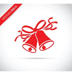 wedding bells red vector image
