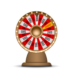 wheel of fortune 3d object isolated on white vector image