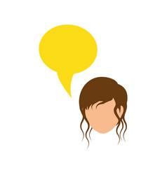 Women faceless profile vector