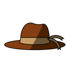 Women sun hat vector