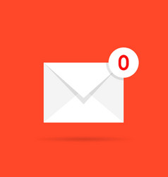 zero mail like empty inbox vector image