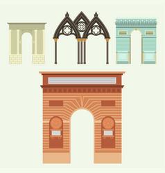 Arch architecture construction frame column vector