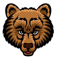 Bear head logo vector