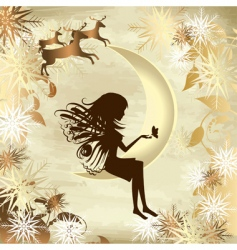 Christmas story gold vector