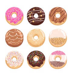 Donuts collection part 1 vector image