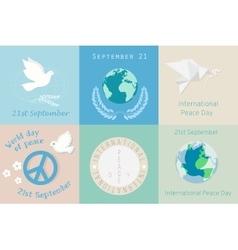 International day of peace design symbols vector