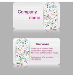 Light gray business card with abstract pattern vector image
