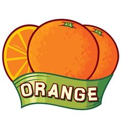 orange label design vector image