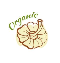 organic badge design vector image vector image