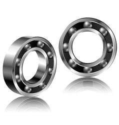Realistic bearing set vector image