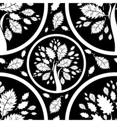 seamless tree pattern 05 vector image vector image
