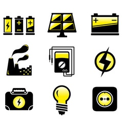 set electrical equipment vector image vector image