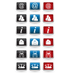 Set of 18 Computer icons vector image vector image